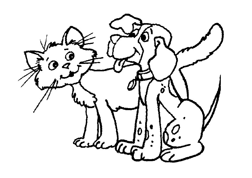 Cat and dog clipart black and white 2 » Clipart Station.