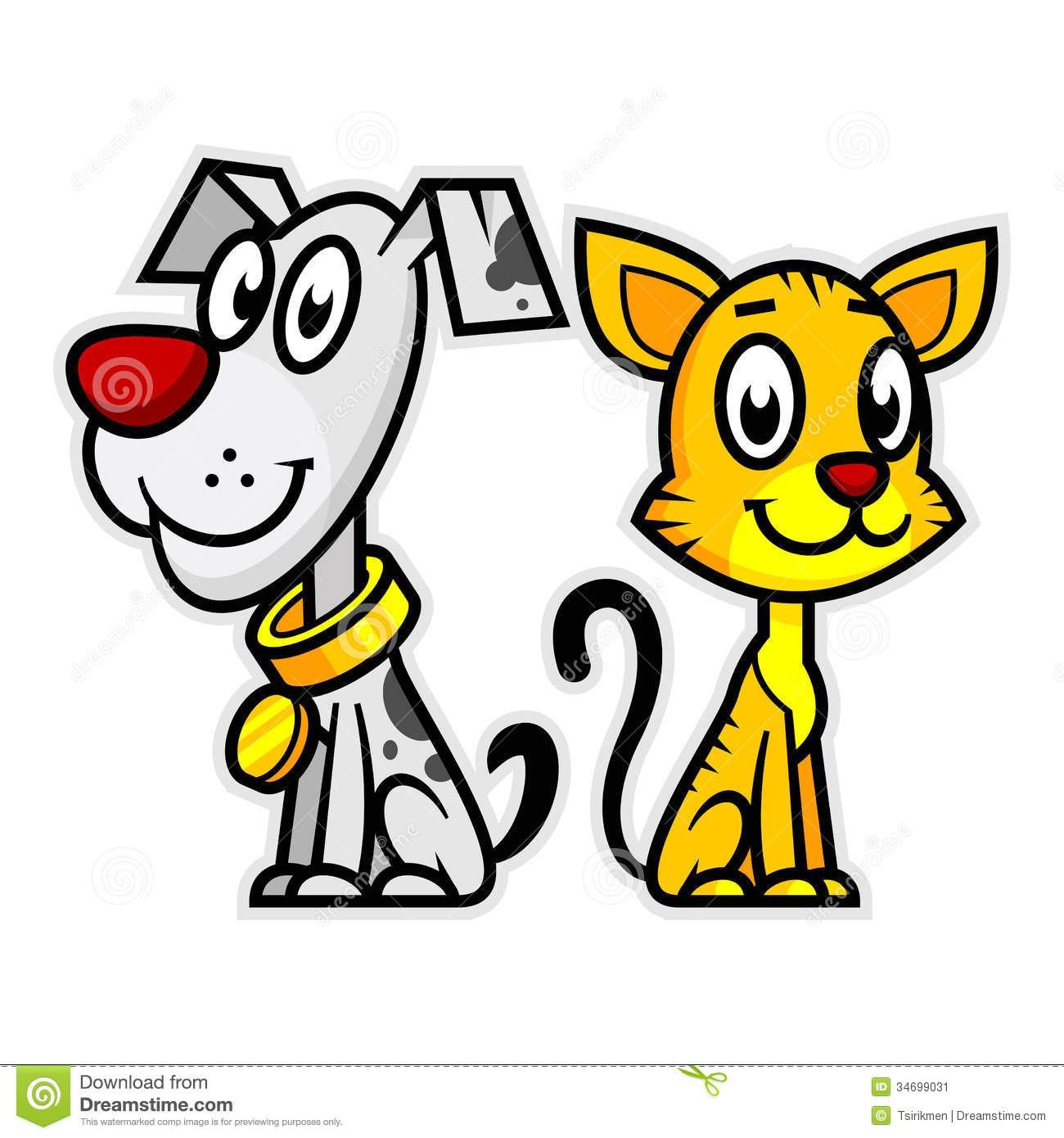 At Cat Dog Clipart Smiling Illustration Format Eps 34699031.