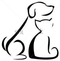 cat and dog silhouette clip art.