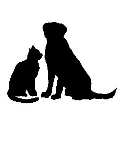 Cat And Dog Silhouette Clipart.