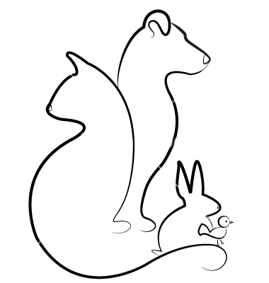Cat dog rabbit and bird silhouettes logo vector 1098503.