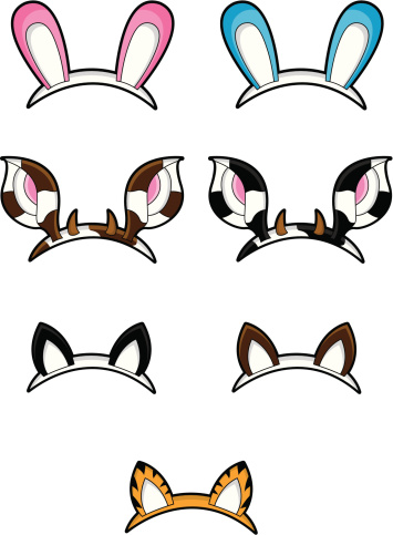 Cat ears clip art.