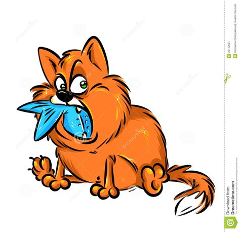 Cat Eating Clipart.