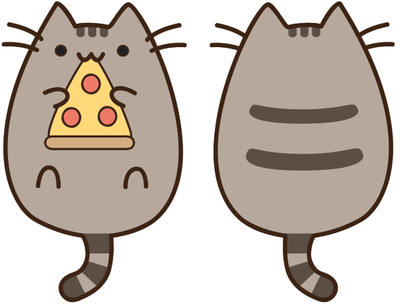 cat eating pizza clipart Clipground