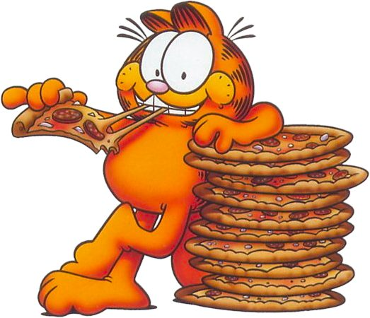 It's Garfield's birthday today and he loves pizza! Celebrate by.
