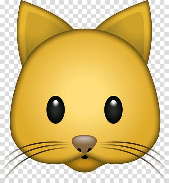 Cat Emoji Sticker Whiskers iPhone, Cat Emoji transparent.