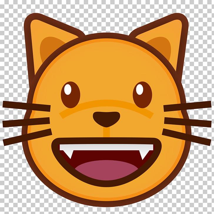 Cat Emoji Kitten Smile , Cat PNG clipart.