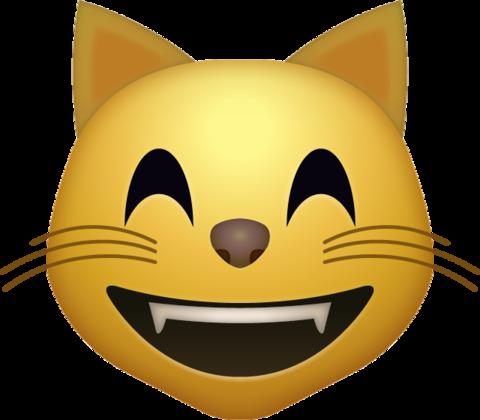 Happy Cat Emoji [Download iPhone Emojis in PNG].