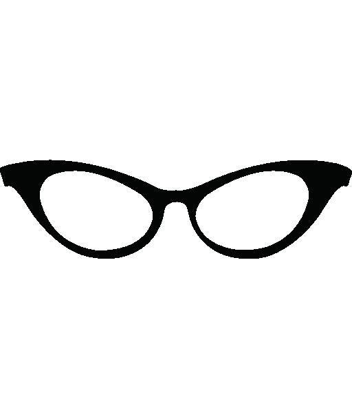 Eyeglasses cat eye sunglasses clipart big 2.