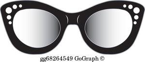 Cat Eye Glasses Clip Art.