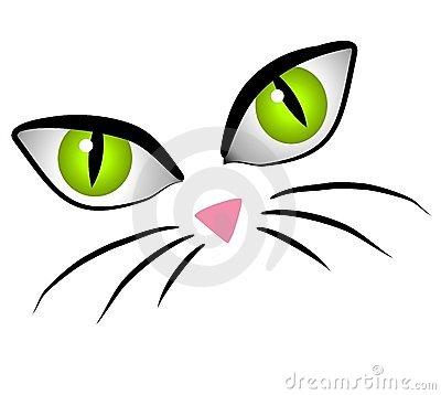 Cartoon Cat Face Eyes Clip Art Royalty Free Stock Images.