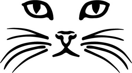 Cat face clipart black and white 3 » Clipart Station.