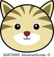Cat face Clip Art Royalty Free. 8,014 cat face clipart vector EPS.