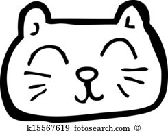 Cat face Clip Art Royalty Free. 8,014 cat face clipart vector EPS.