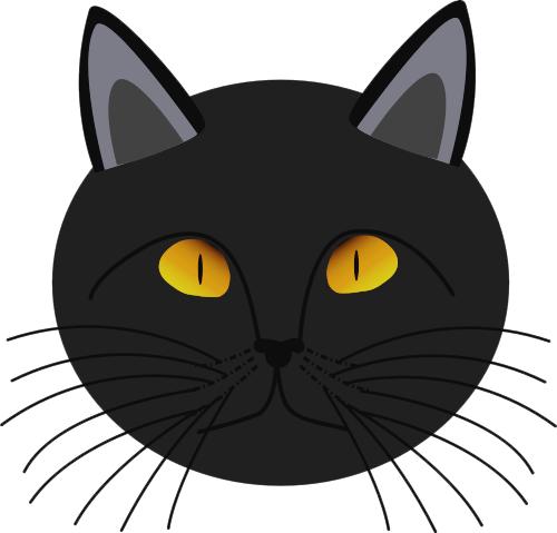 Halloween Cat Face Clipart.