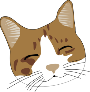 Cat face clipart #3