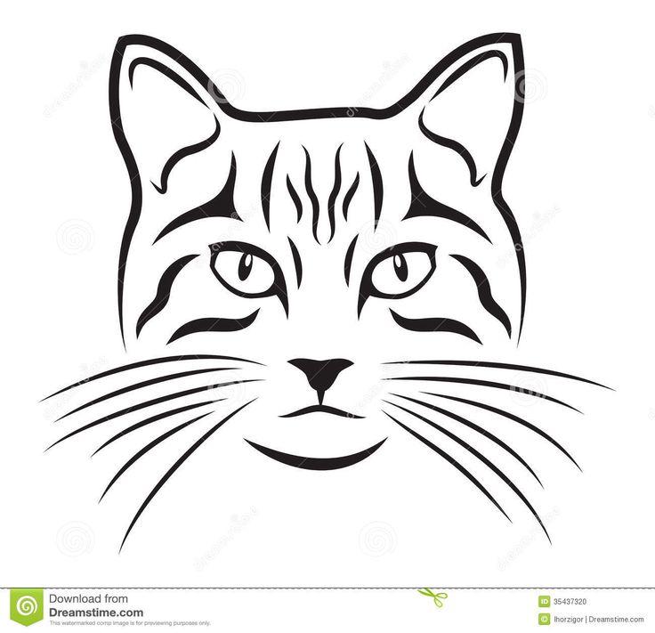17 bedste idéer til Cat Face Drawing på Pinterest.