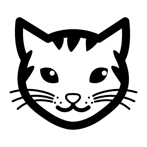 751 Cat Face free clipart.