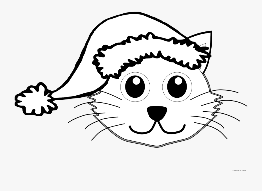 Cat Outline Animal Free Black White Clipart Images.