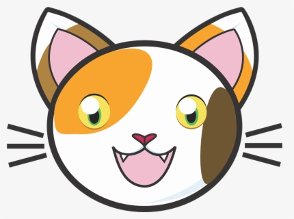 Free Cat Face Clip Art with No Background.