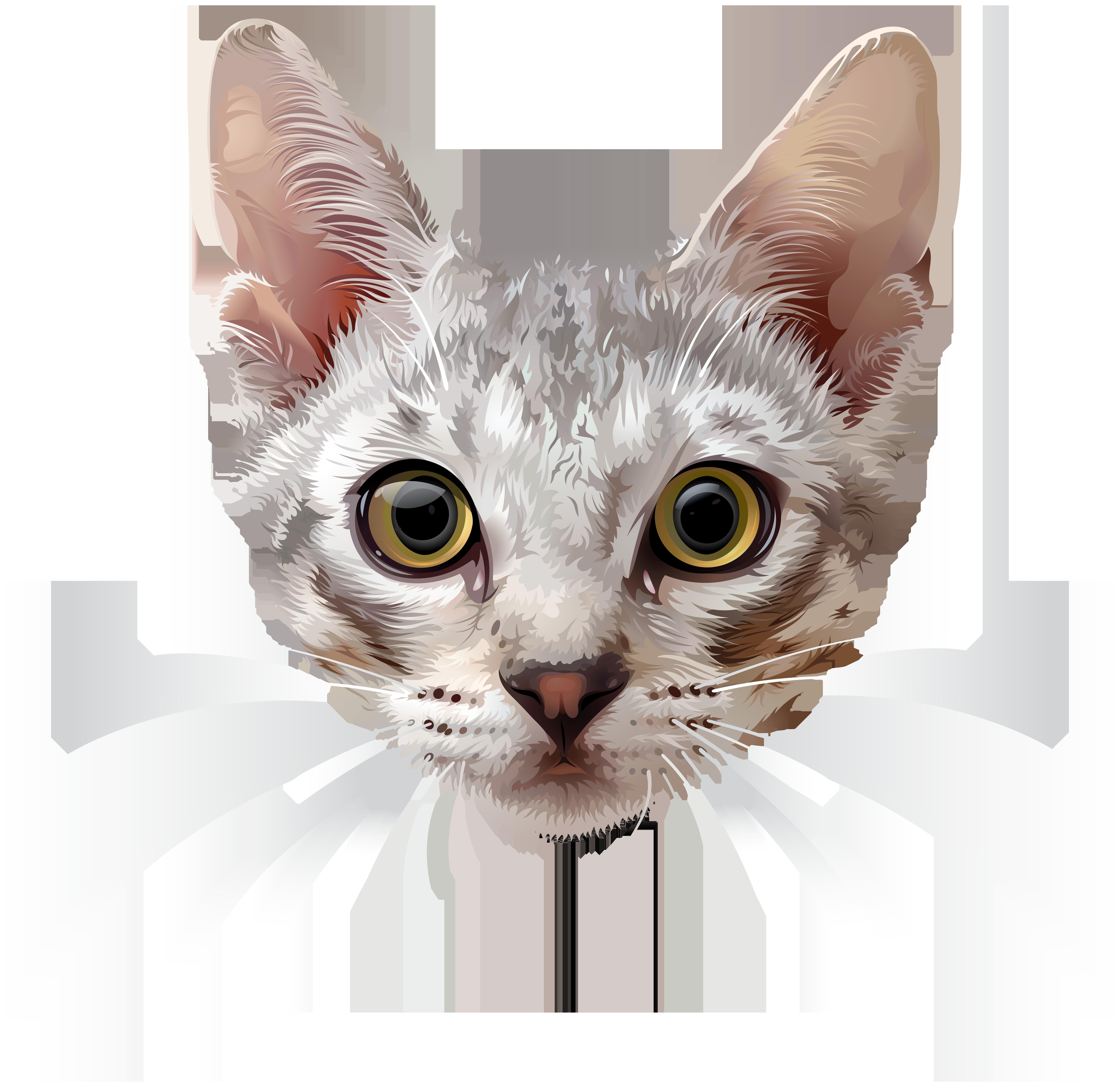 Cat Face PNG Clip Art Image.