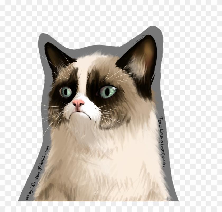 Grumpy Cat Face Art Png , Png Download, Transparent Png (#274277.