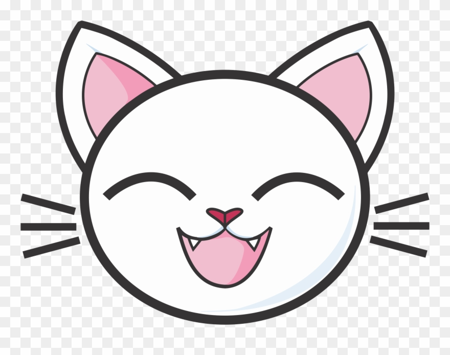 Happy White Cat Icons Png.