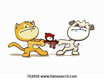 Cats And Dogs Fighting Clipart.