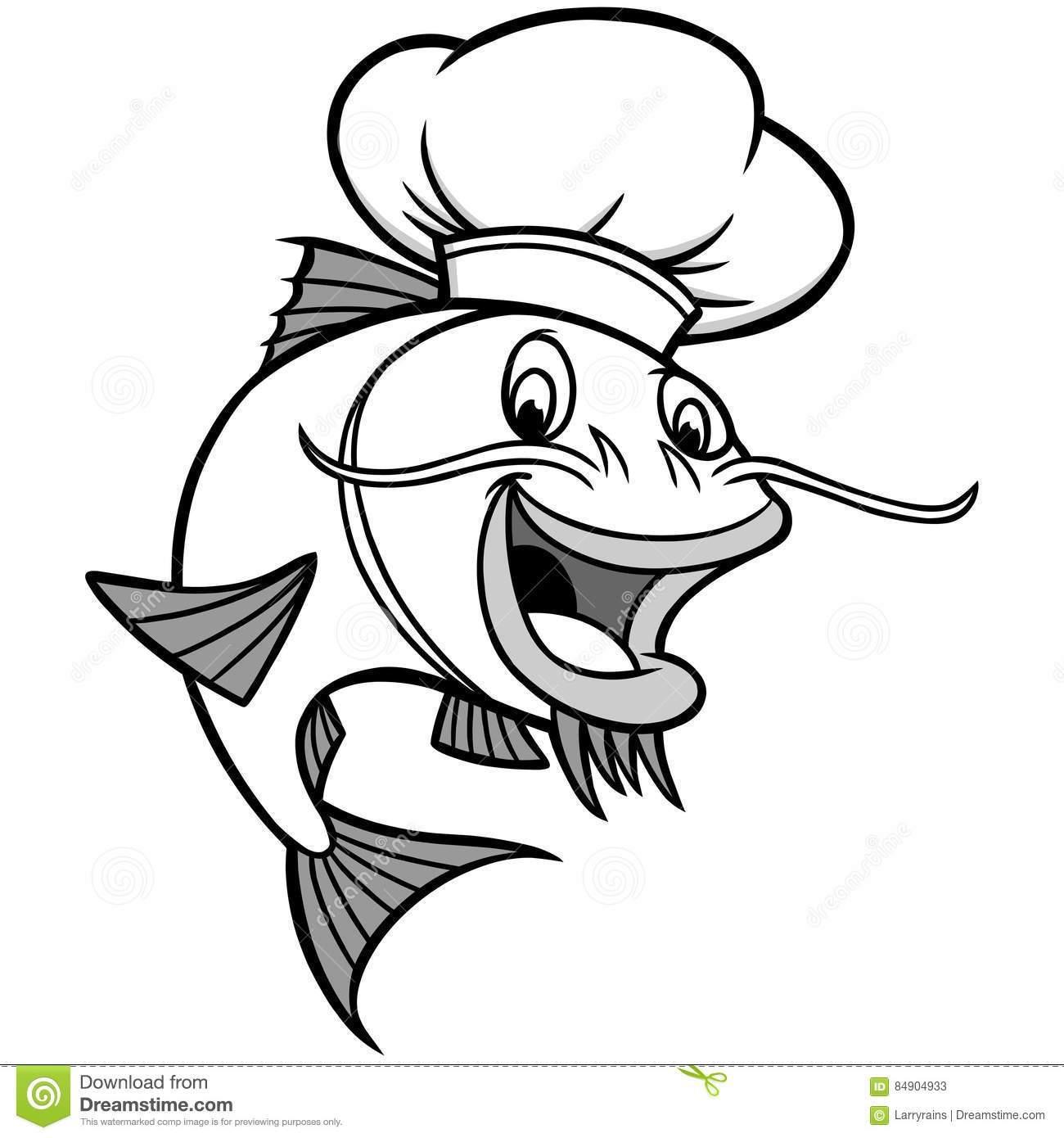 Catfish clipart black and white 9 » Clipart Portal.