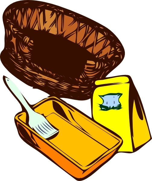 Basket Paint Cat Food clip art Free vector in Open office drawing.