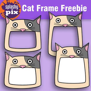 Cat Frame Clipart Freebie.