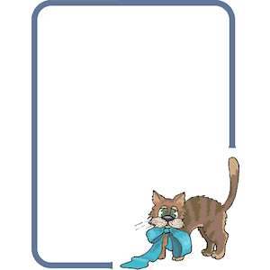 Cat Frame 3 clipart, cliparts of Cat Frame 3 free download.
