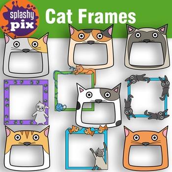 Cat Frames Clipart.