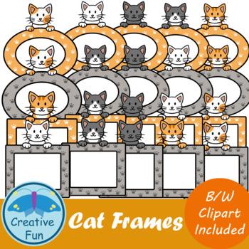 Cat Frame Clipart.