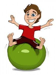 Gymnastikball / Pezziball, Sitzball, Übungen und Zubehör.