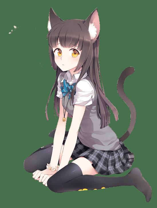 Cat Girl School Uniform transparent PNG.