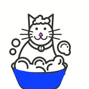 Cat grooming clipart » Clipart Station.