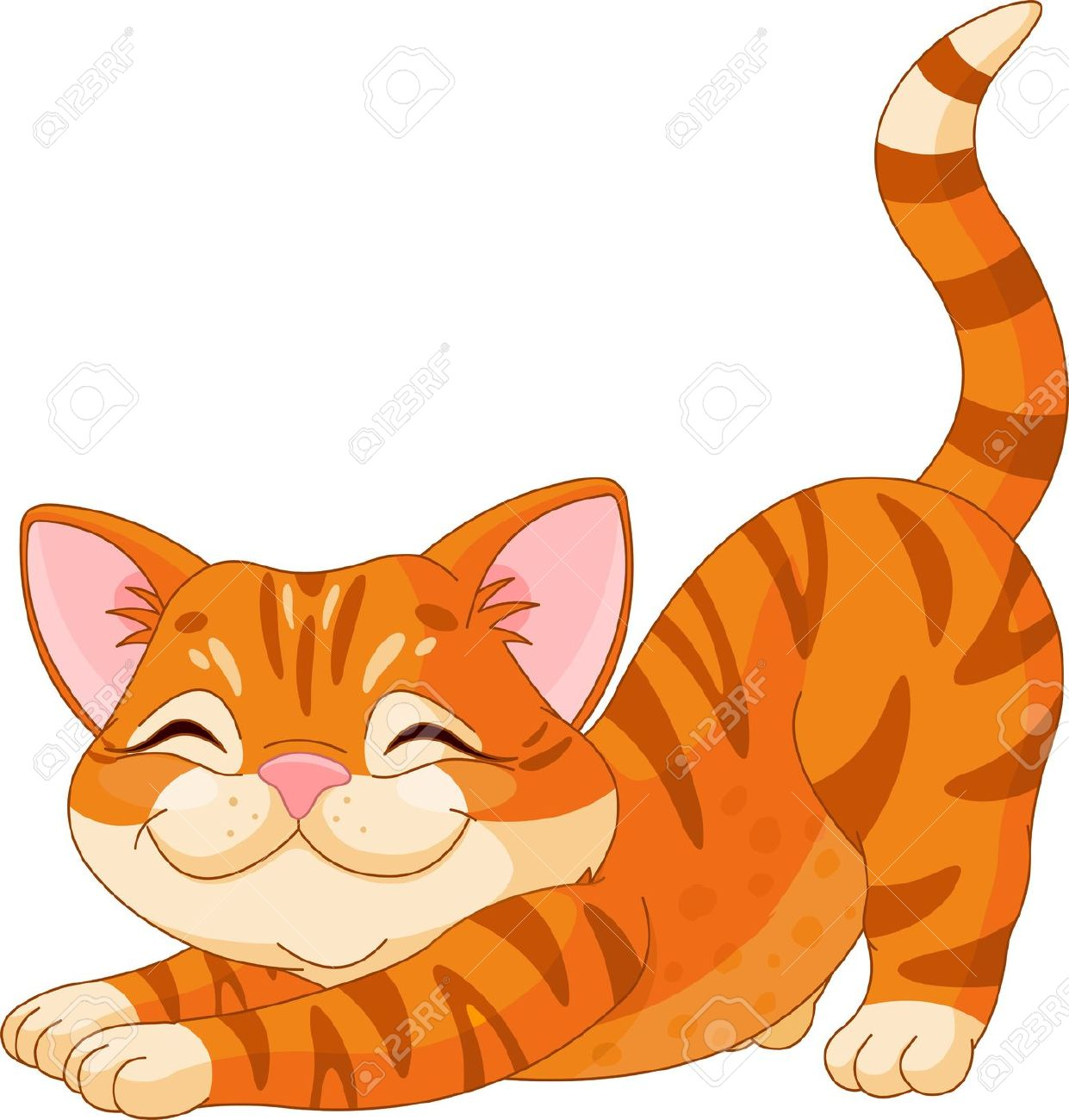 Red head cat lover clipart.