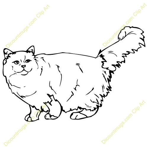 Cat hair clipart #4