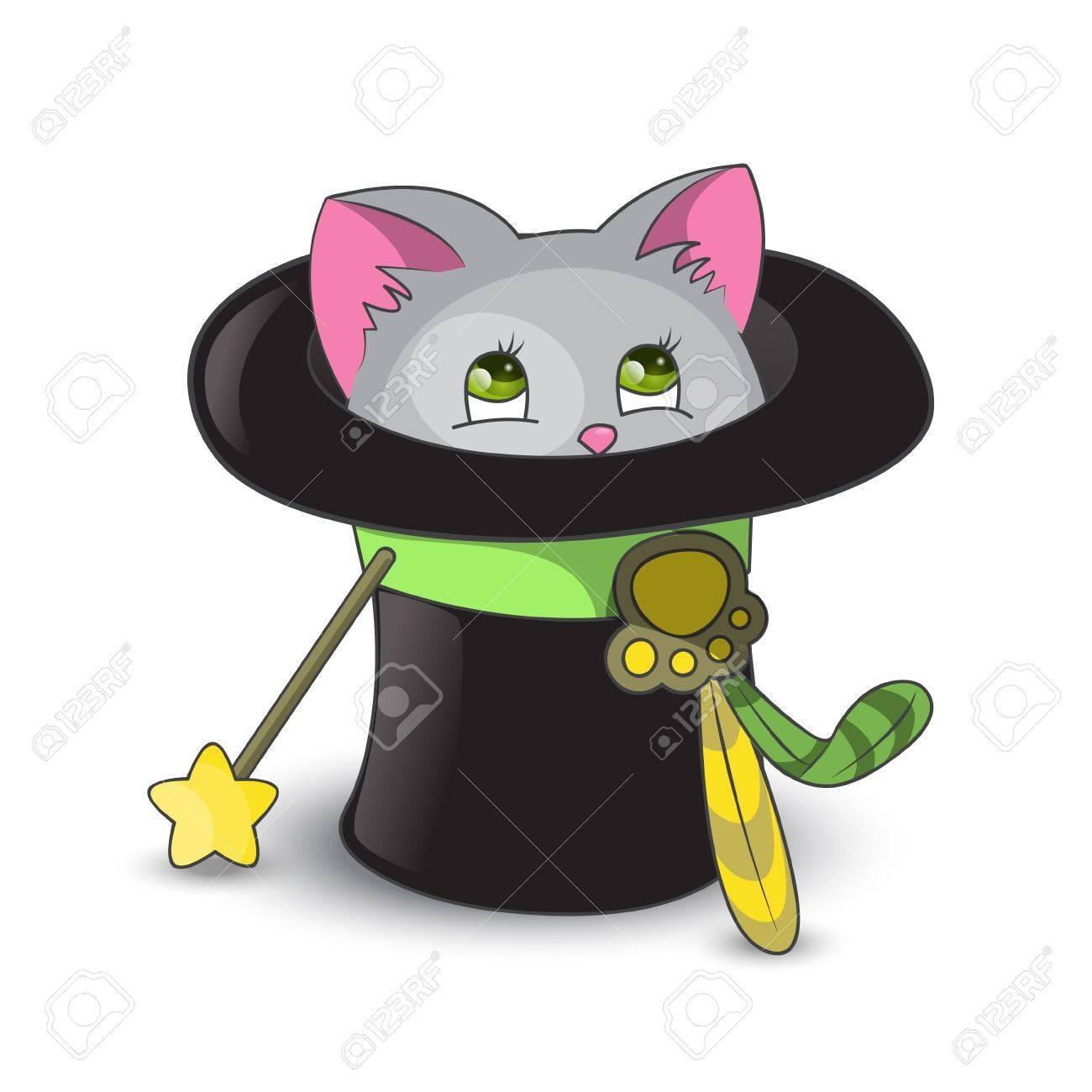 Cat in a hat clipart 4 » Clipart Portal.