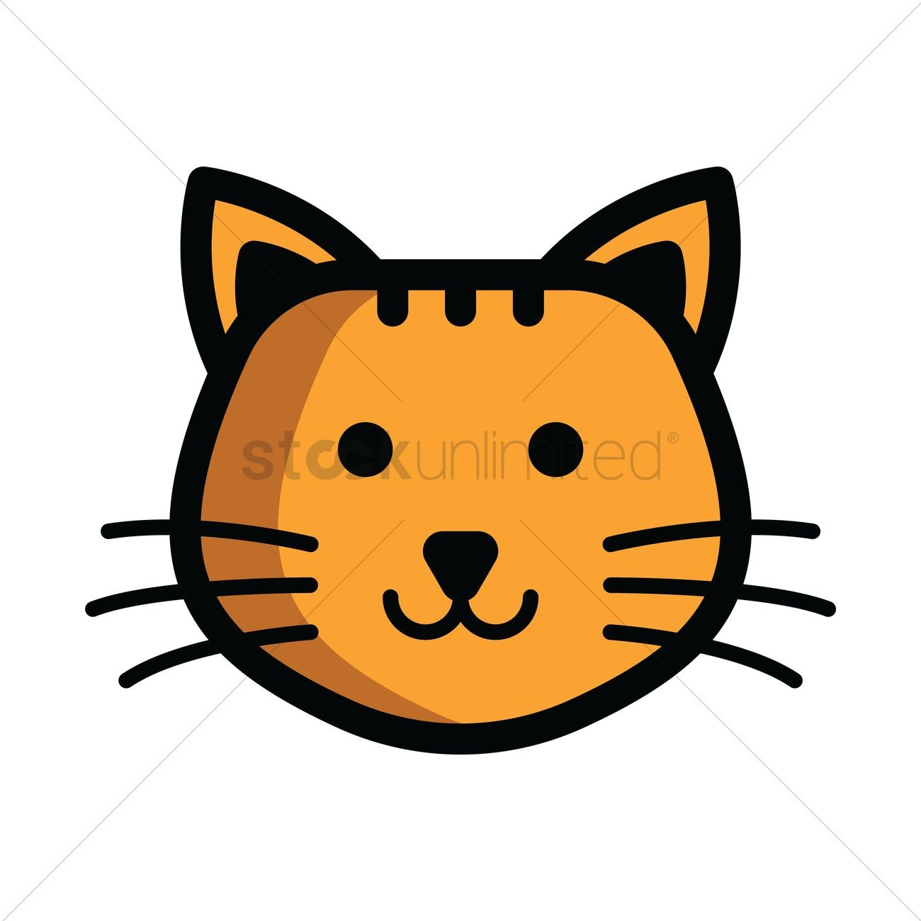 Cat head clipart 1 » Clipart Station.