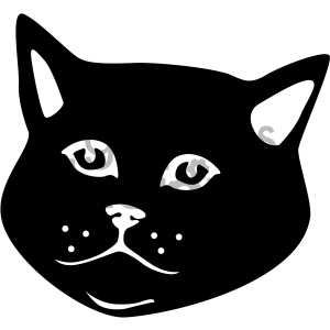 black and white cat vector art . Royalty.
