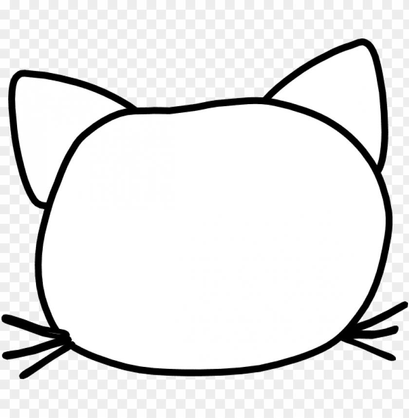 cat head outline clip art at clker com vector clip.