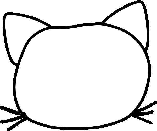 Cat Head Outline.