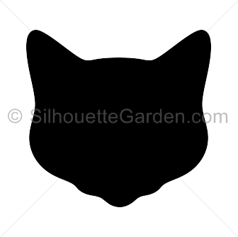Silhouette Of A Cat Head.