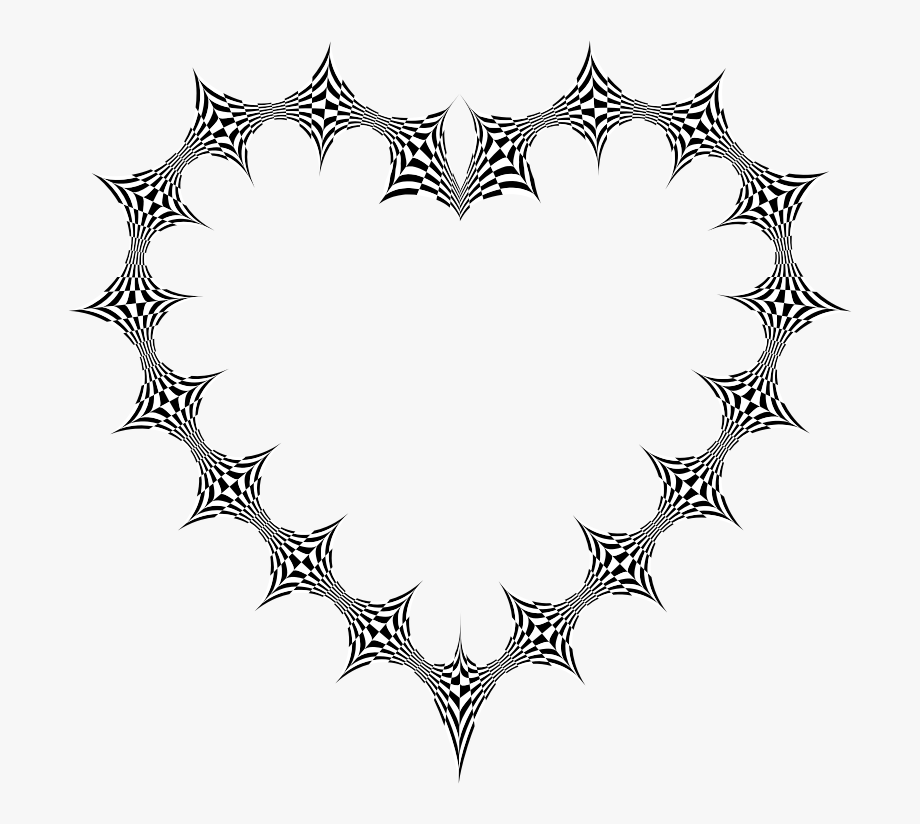 Stylized Checkered Geometric Heart.