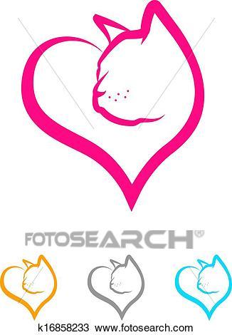 Cat Heart Clipart.