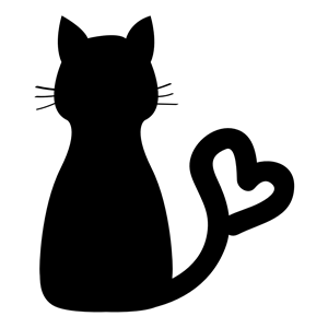 Cat Heart Tail clipart, cliparts of Cat Heart Tail free download.