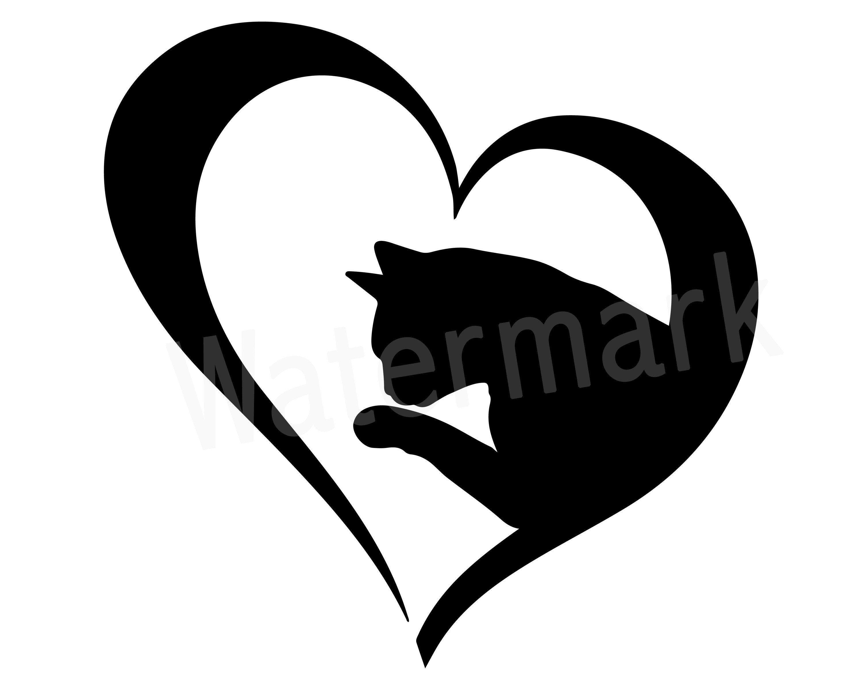 Cat Lover SVG Clipart, Love Cats, Cat Mom SVG, Fur Mom, Cat Lover T.