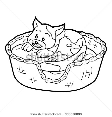 Cats house clipart.